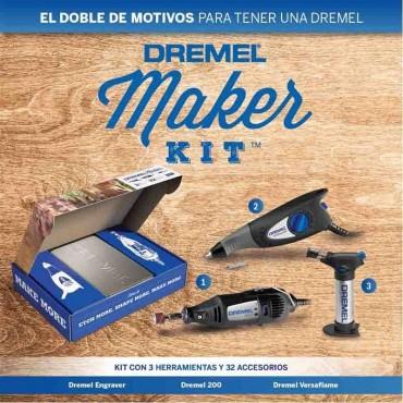 Maker Kit Mod.F0132290AB Kit Dremel Grabador Versaflame Dremel