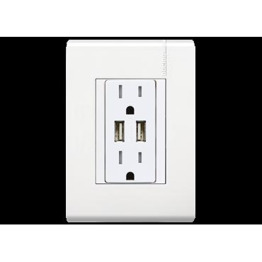Contacto Dúplex con entrada  para USB BTICINO 1