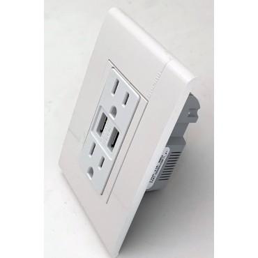 Contacto Dúplex con entrada  para USB BTICINO 4