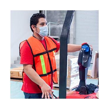 Chaleco Malla Naranja De Seguridad D2 DOGOTULS 5